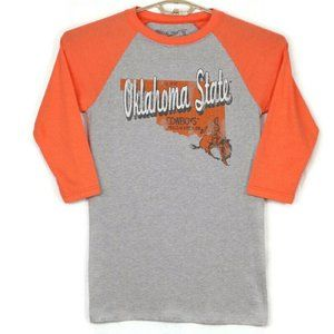 Oklahoma State Cowboys Baseball T-Shirt Small Gray